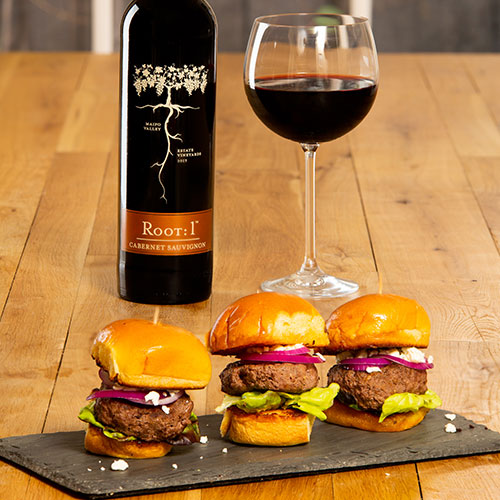Sliders with Chilean Cabernet by Root: 1