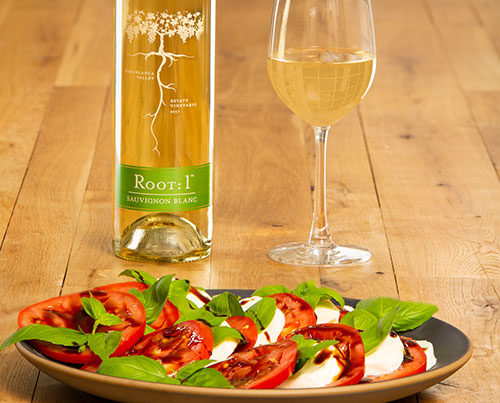 Tomato dish with Chilean Sauvignon Blanc by Root: 1
